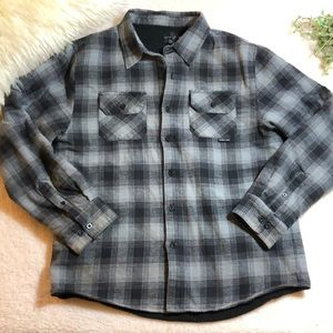 O'Neill Men's Fleece Lined Flannel Shirt Jacket